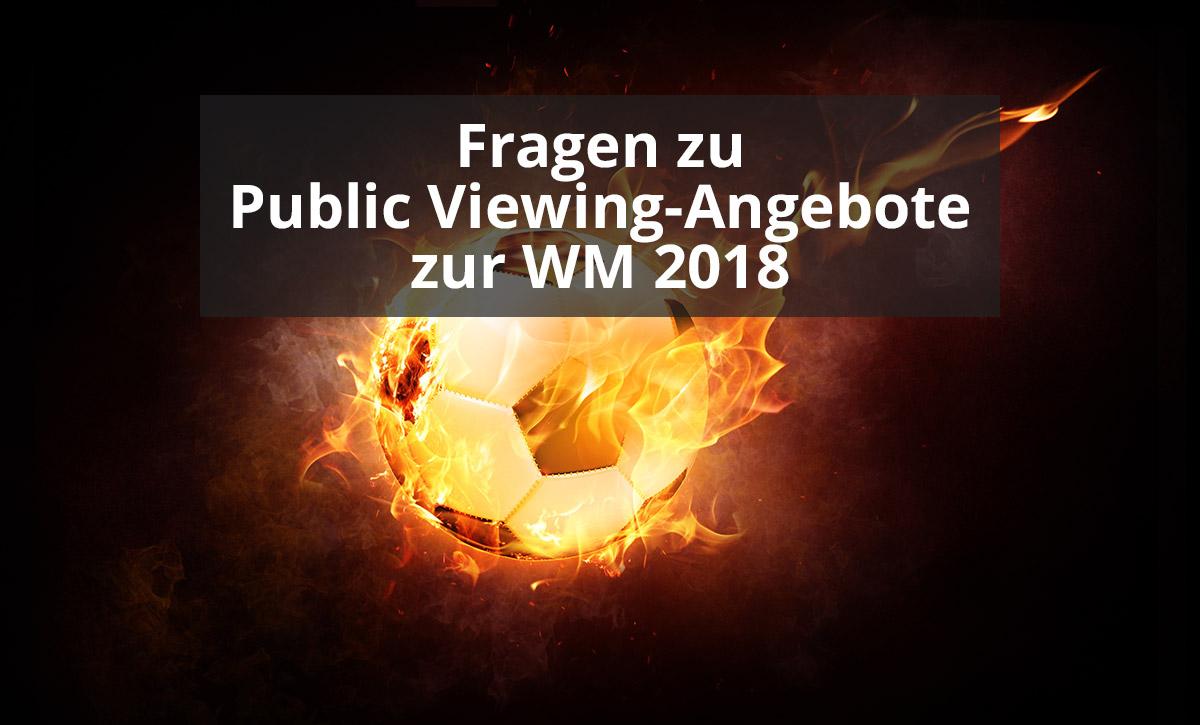Fragen zu Public Viewing-Angebote zur WM 2018  Twitter-Meldung der Tourist-Information Otterndorf zum Public Viewing während der WM 2018