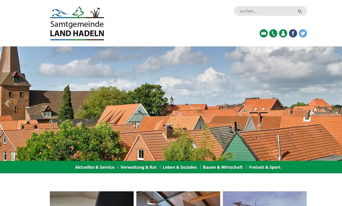 Launch Webseite Samtgemeinde Land Hadeln||