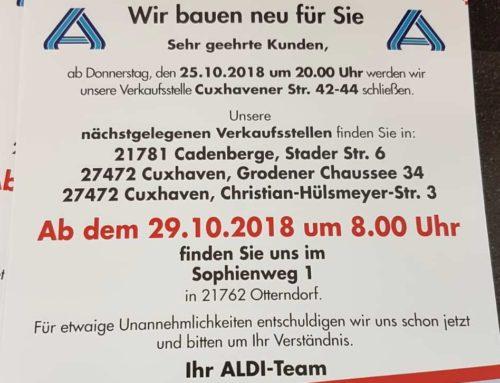 ALDI schließt in Otterndorf für Neubau
