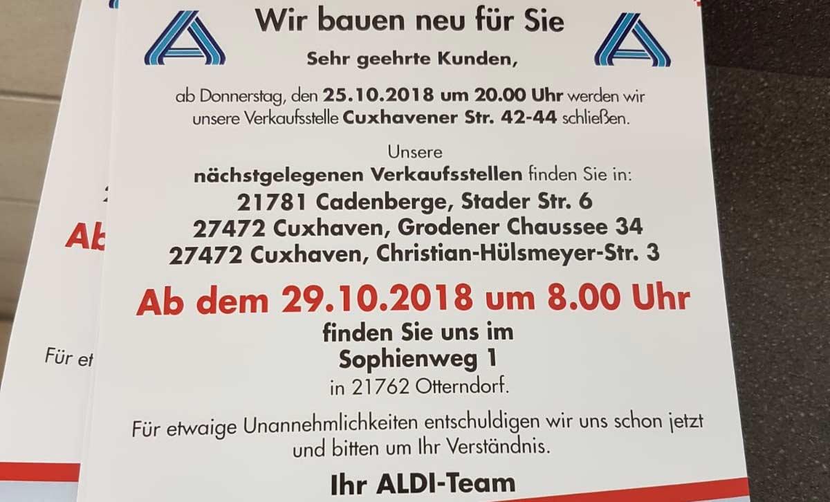 ALDI baut in Otterndorf um