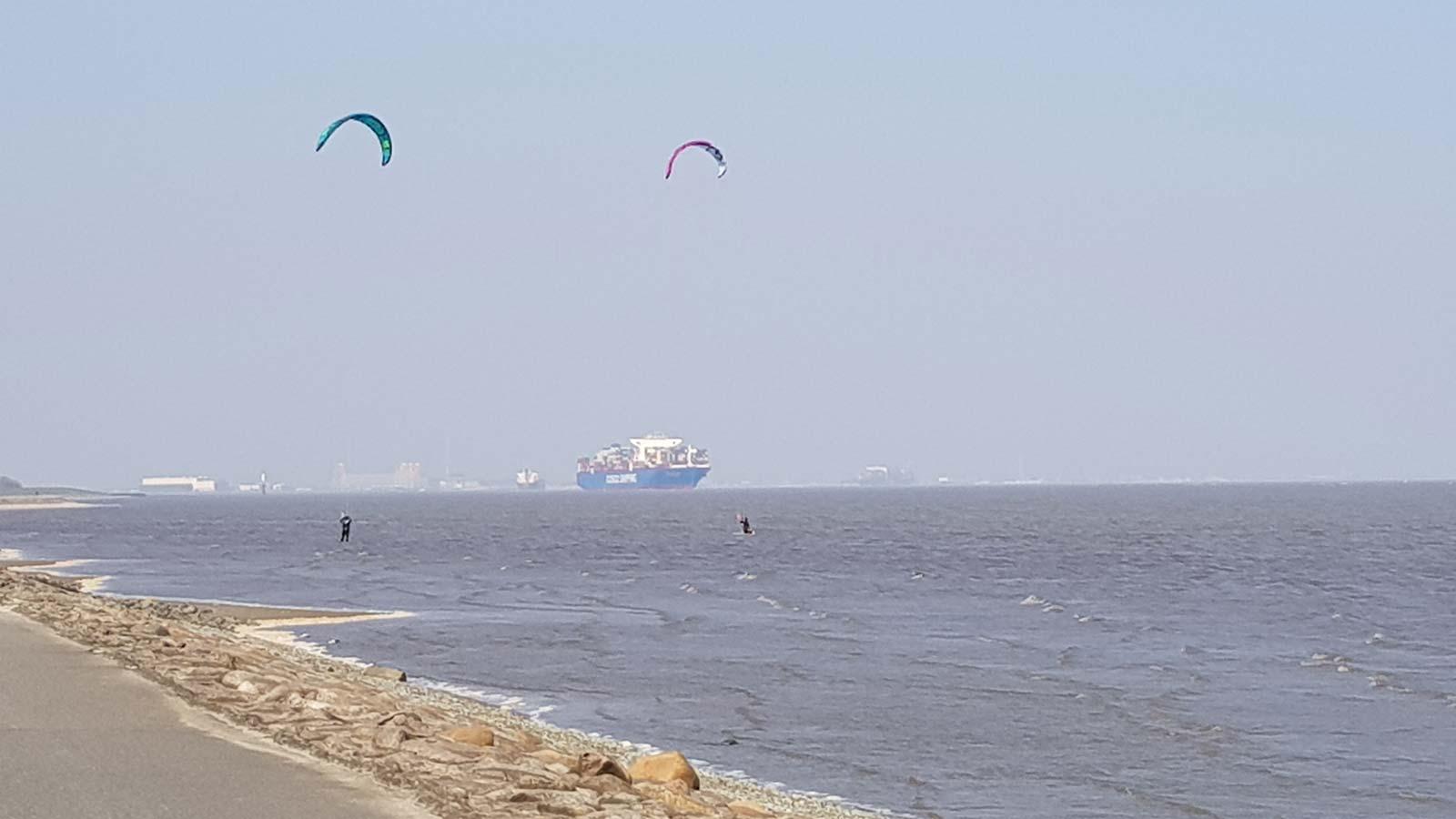 Kitesurfen vor Otterndorf