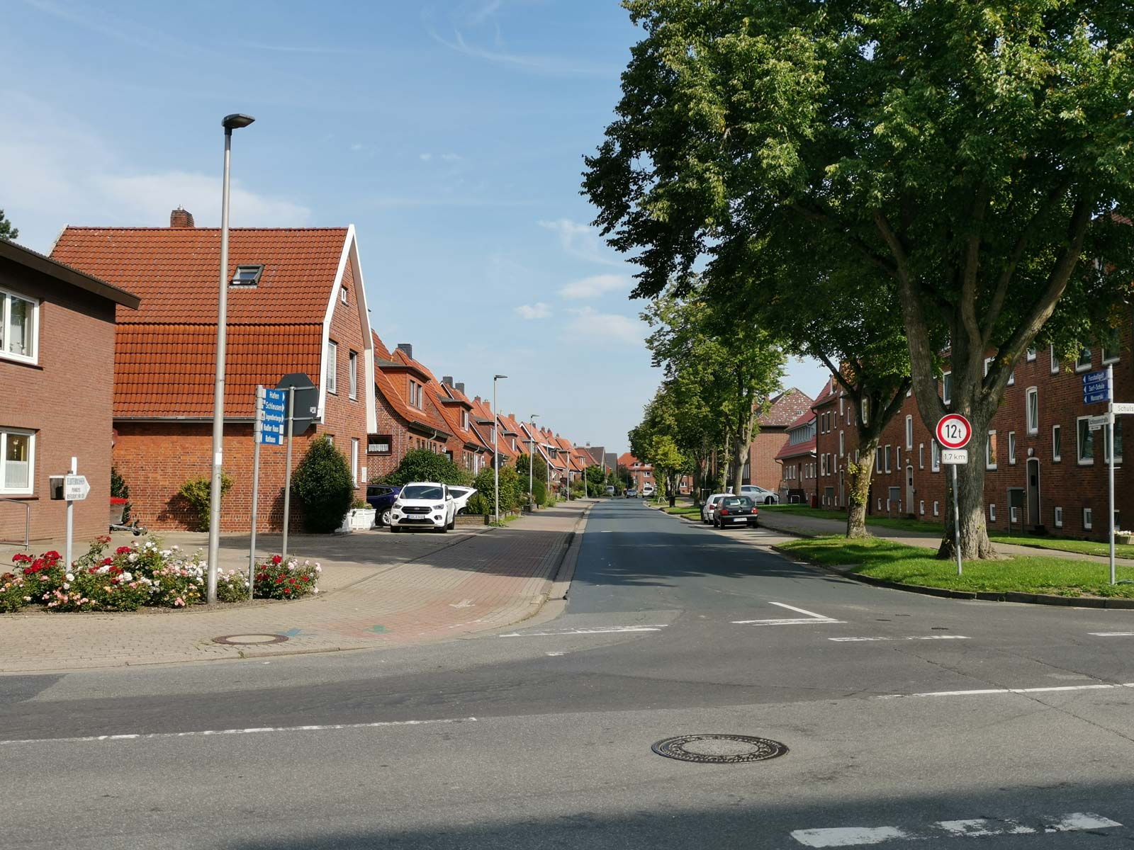 Fahrradweg in Otterndorf