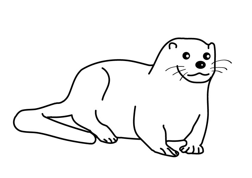 Otter Ausmalbild